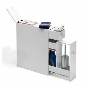 Narrow Wood Floor Bathroom Storage Cabinet Holder Organizer NEW + FREE SHIPPING