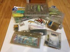 Large Lot Of Vintage Sea Fishing Lures Rapala, Rebel, Hooks, And Various Tackle