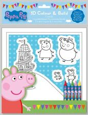 Peppa Pig 3D Colour and Build Set Activity Colouring Create Art Craft