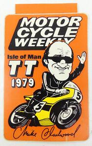Isle Of Man Motorcycle TT Rare Mike Hailwood Sticker  1979
