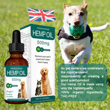 Hemp Oil Dog Cat Pet Natural Herbs of Pets Care Anxiety Pain Relief