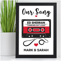 PERSONALISED Our Song First Dance Valentines Gifts for Him Her Couples Husband