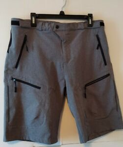 MTB Shorts Outdoor Cycling Mountain Gray Polyester Mens XXL NWOT