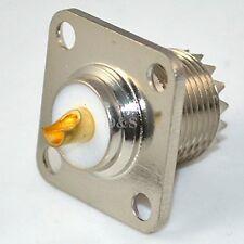 UHF Type Female SO239 Jack 4 holes flange mount solder RF connector adapter 25m