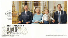 (51487) GB FDC Queen 90th Birthday minisheet Windsor 2016