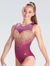 NWT GK Elite Plum Purple Pink Gold Gymnastics Leotard Child & Adult Sizes