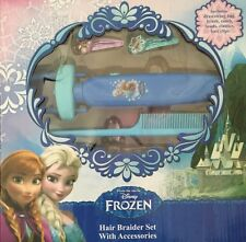 DISNEY FROZEN HAIR BRAIDER BAG BRUSH COMB BEADS SET BNIB