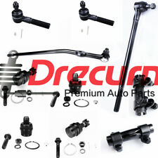 10PCs Front Upper Lower Ball Joint Tie Rod SET For 1992-97 Ford Ranger 2 WD