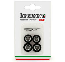 Brumm F089 FERRARI 250 GTO 1962 4 Rayons Roues Set avec axels/spinners 1/43
