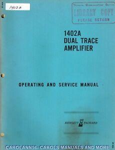 HP Manual 1402A DUAL TRACE AMPLIFIER