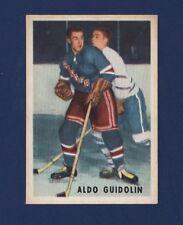 1953-54 Parkhurst ALDO GUIDOLIN #66 EXMT New York Rangers Nice LOOK !