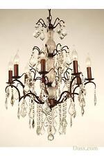 Dusx Charlotte Cristales de vidrio francés bronce 8 Brazo De Araña