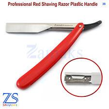 Shavette Mens Barber Hair Salon Razor Red Shaving Barber Straight Cut Throat