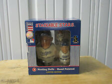 VINTAGE COOPERSBURG SPORTS LOS ANGELES DODGERS 3 NESTING DOLLS NEW IN BOX STACK