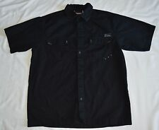 Dickies Shirt  Black Genuine Button Down Shirt Men's SZ L, 1005 COTTON (1,6)