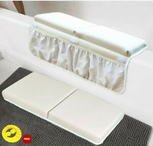 Baby Bath Kneeler Elbows And Rest Pad Set Eye/Ear Protecting Silicone Shower Hat