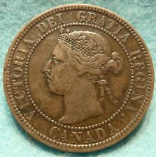1899 VF-XF Grade CANADA LARGE CENT Victoria COIN No-Res CANADIAN