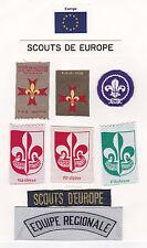 SCOUTS DE EUROPE - Scout Membership Rank Award & Strip Patch SET OF 8