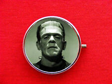 FRANKENSTEIN MONSTER ROUND METAL PILL MINT BOX CASE