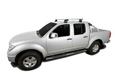 Rhino Pair of Vrotex Roof Racks NISSAN Navara D40 Dual Cab 11/05 On