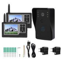 """Kit 2.4GHz Videocitofono Bifamiliare Wireless +2Monitor 3.5"""" TFT LCD Video Foto."""