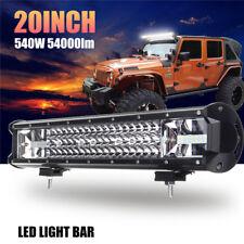 20inch 540W LED Work Light Bar Flood Spot Combo Driving Lamp Offroad Truck SUV