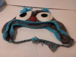 Kids Knitted Winter Hat Shaped Like An Owl