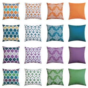 "16"" 18"" 20"" 22"" 24"" 26"" 28"" Waterproof Cushion Cover Pillow Case Outdoor Decor"