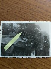 wk2 Foto Panzer Soldat Hals Kreuz / Sturmführer Einweisung? Orden Träger