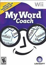 My Word Coach (Nintendo Wii, 2007) COMPLETE FREE SHIPPING!
