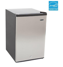 Whynter 2.1 cu ft Compact Upright Freezer Manual Defrost w/ Lock Stainless Steel