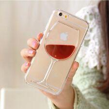 Beautiful Liquid Quicksand Red Wine Transparent iPhone case