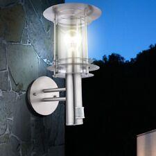 Design Edelstahl Außen Spot Wand Weg Lampe Garten Hof Balkon Leuchte Sensor 8m