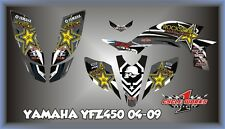 04-09 YAMAHA YFZ 450 ATV CUSOM GRAPHICS KIT PEGATINAS BLACKSTAR