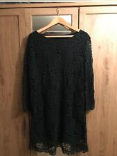 Phase eight size 18 black and green lace dress