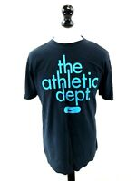 NIKE Mens T-Shirt Top M Medium Navy Blue Cotton
