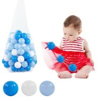 100Pcs Soft Colorful Plastic Ocean Balls Funny Baby Kids Swim Pit Pool Ball Toy
