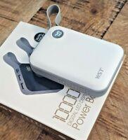 Juice Box External Power Bank Charger LED 10000mAh USB-C Micro USB Duel Charge