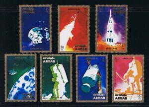 Apollo 16 Flight Blast-off, Capcule Moon, Space Complete Set of 7 q20