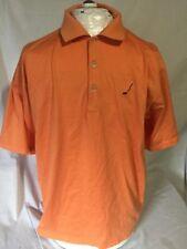 Peter Millar Double Mercerized Cotton Orange Golf Polo Shirt. Men's Size Large
