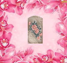 Blumen - 9 Wraps Nail Art Tattoo Sticker Decal Fingernägel Fuß-Nägel Aufkleber