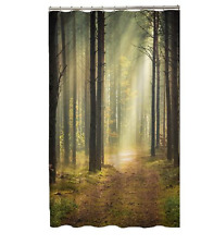 Dark Forest Print  FABRIC SHOWER CURTAIN,