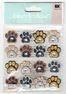 JOLEE'S BOUTIQUE PAW PRINT REPEATS DIMENSIONAL STICKERS BNIP