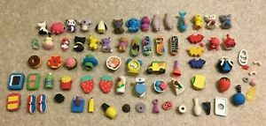 Mixed Lot Iwako Erasers Mini Figures Japanese Animal Cats Dessert Skateboard