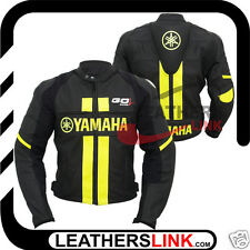 Yamaha Replica Motorcycle Motorbike  Racing Leather Jacket MJK-535(US 40/EUR 50)
