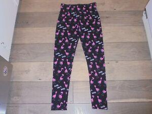 Justice pink flamingos Floss Like a Boss leggings size 18