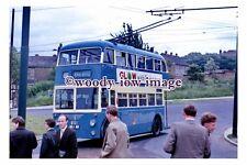 gw0171 - Bradford Trolleybus no 801 to Mental Hospital in 1964 - photograph