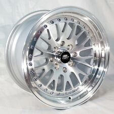 MST MT10 15x8 4x100/4x114.3 +25 Silver Rims Fits Golf Del So Jdm Racing Cabrio