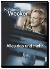 """KONSTANTIN WECKER """"ALLES DAS UND MEHR"""" 2 DVD NEUWARE"""