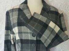 Byer Vintage 1980's  Crop Classic Preppy Gray Womens Plaid Jacket Made in USA Sm